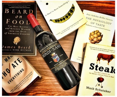 reading wine and food books