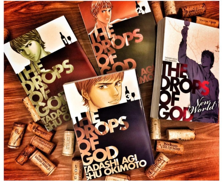 Drops of God wine manga covers