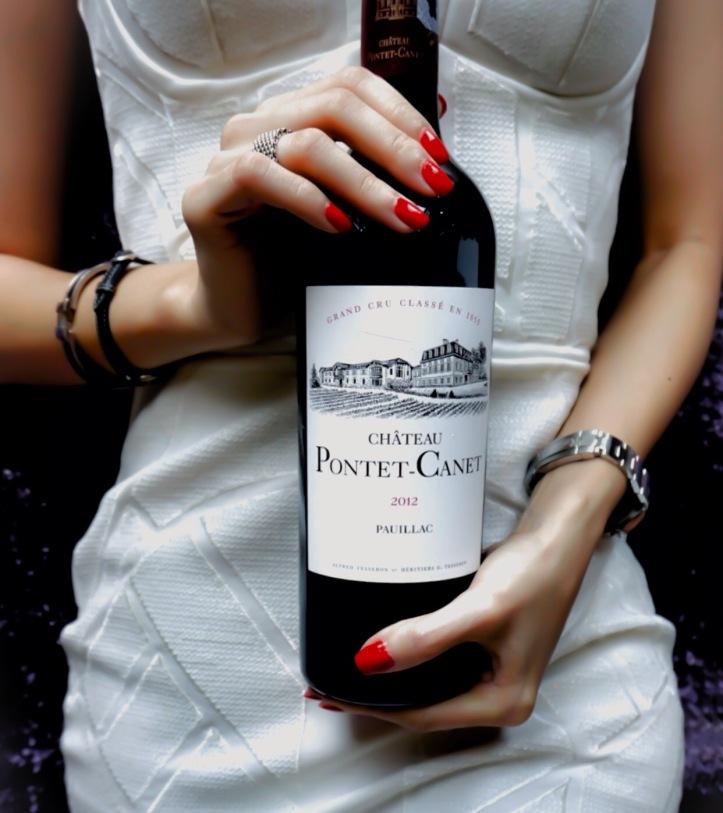 Pontet-Canet girl meets wine Bordeaux
