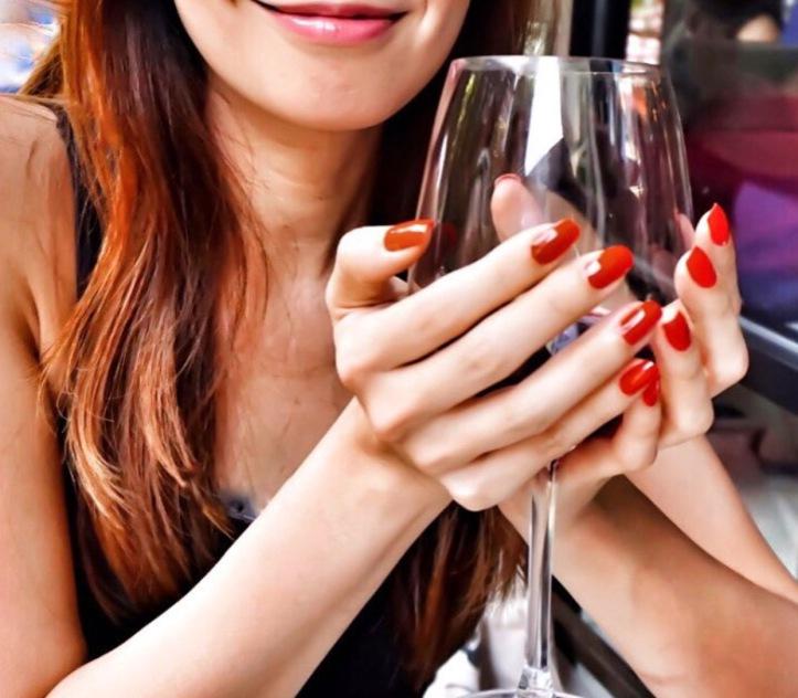 girl meets wine glass hands